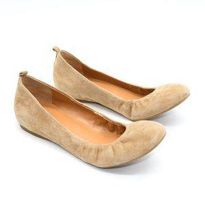 J Crew Anya Tan Suede Ballet Flats 6